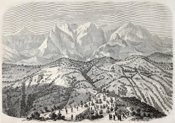 Illustration de la Kabylie au XIXe siècle